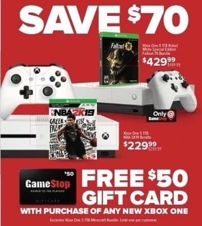 Gamestop Black Friday Xbox One X 1tb Robot White Special Edition