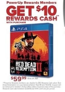 GameStop Black Friday: PowerUp Rewards Members: Red Dead