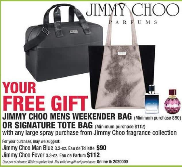 d51bfa3ce9 Boscov's Black Friday: Jimmy Choo Weekend Bag or Signature Tote with any  Large Spray Purchase from Jimmy Choo Fragrance Collectin for Free