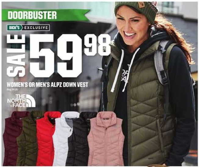 c63dd284b66 Dicks Sporting Goods Black Friday: The North Face Women's or Men's ...