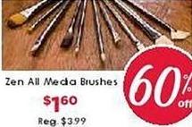 Craft Warehouse Black Friday: Zen All Media Brushes for $1.60