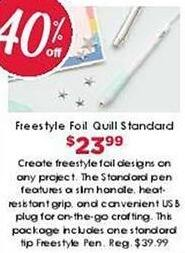 Craft Warehouse Black Friday: Freestyle Foil Quill Standard Pen for $23.99