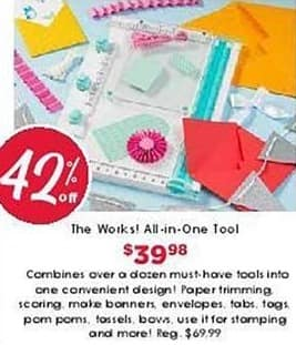 Craft Warehouse Black Friday: The Works! All-In-One Tool for $39.98