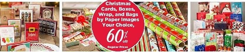 Craft Warehouse Black Friday: Paper Images Christmas Cards, Boxes, Wrap or Bags - 60% Off
