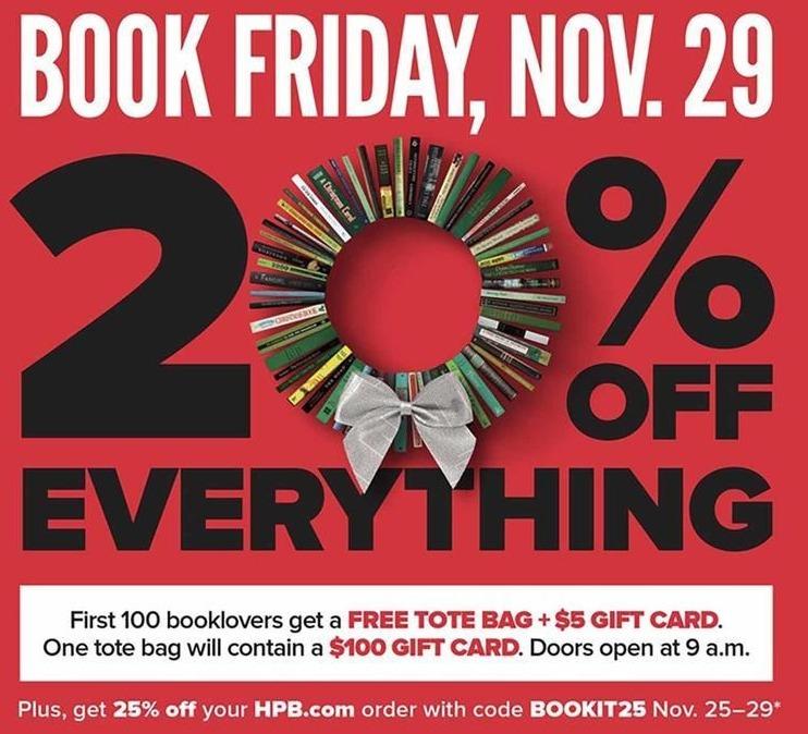 Half Price Books Black Friday: Everything - 20% Off