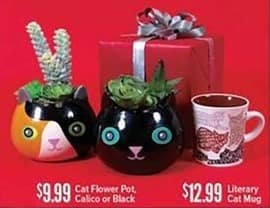 Half Price Books Black Friday: Cat Flower Pot in Calico or Black for $9.99