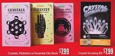 Half Price Books Black Friday: Crystals, Palmistry, Essential Oils Books or Crystal Growing Kit for $7.98