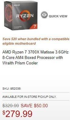 Micro Center Black Friday Amd Ryzen 7 3700x Matisse 3 6ghz 8 Core Am4 Boxed Processor