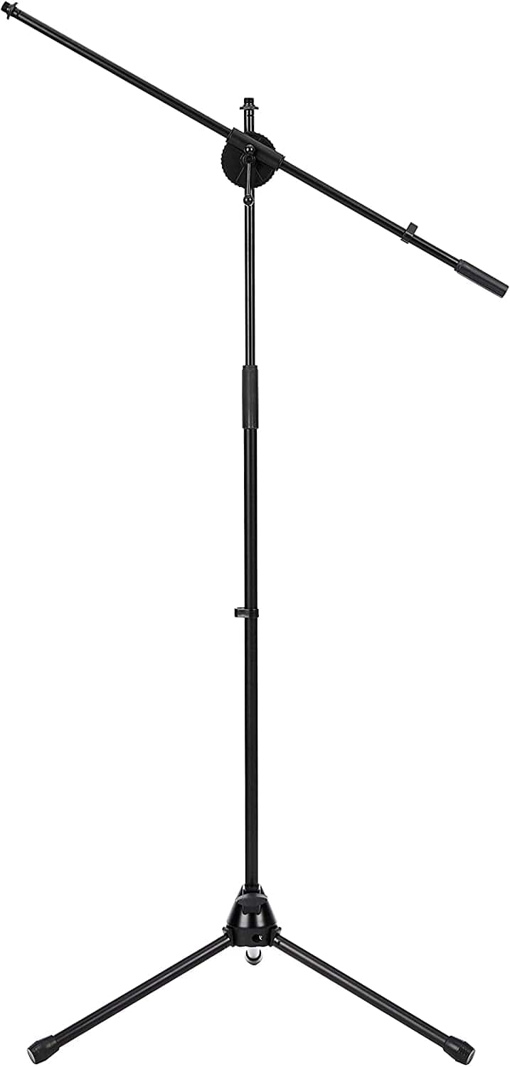 Amazon Basics Tripod Boom Microphone Stand - Height-Adjustable with Metal Base - $17.68