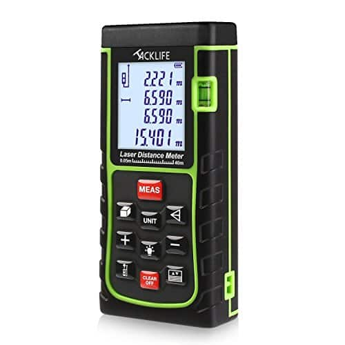 Tacklife 131' Portable Laser Distance Measurer w/ Distance, Angle Measurement , Area & Volume Calculation $33.99 AC + Free Shipping