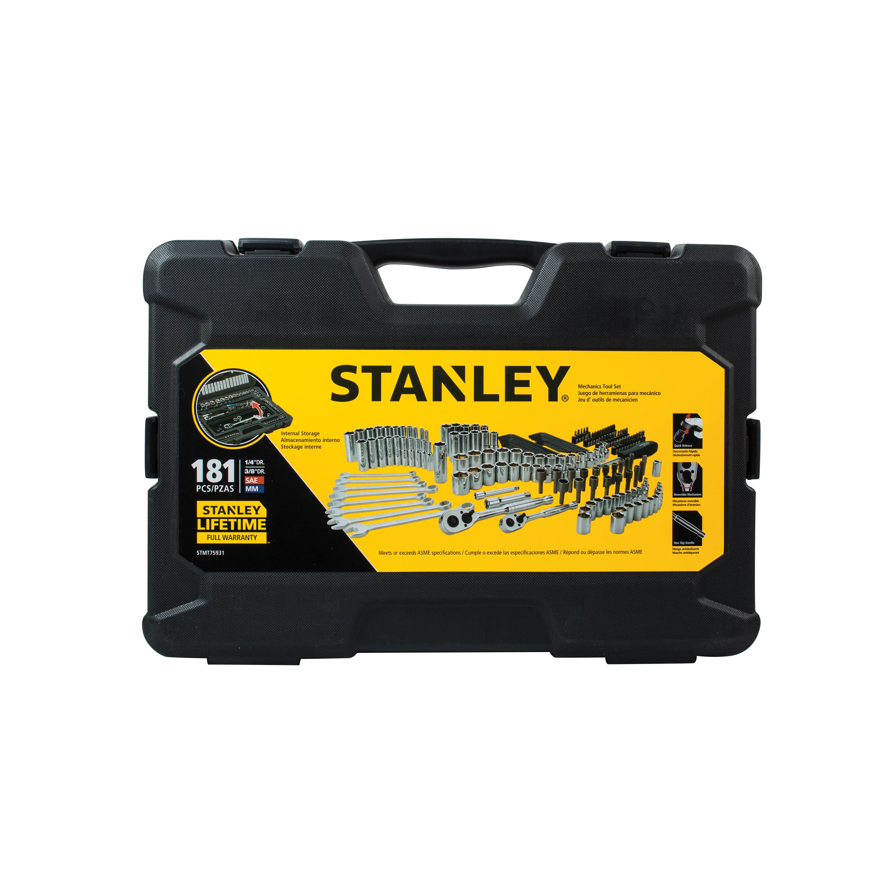 STANLEY STMT75931 181pc Mechanic's Tool set with Storage $54.50