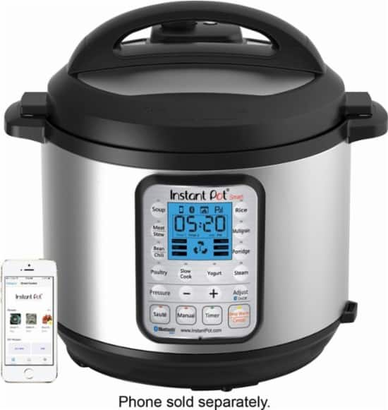Instant Pot - 6-Quart Bluetooth Enabled Pressure Cooker with bonus Bluetooth speaker with Google Assistant