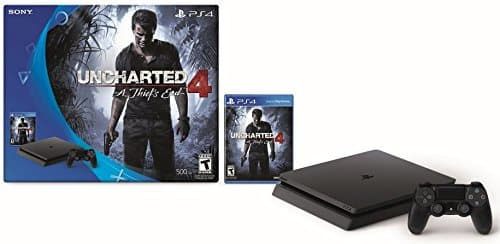 PlayStation 4 Slim 500GB  - Uncharted 4 Bundle.  $299.99 FS for Prime members
