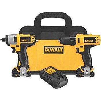 DEWALT DCK211S2 12-Volt Max Drill/Driver / Impact Driver Combo Kit $89 @ Amazon