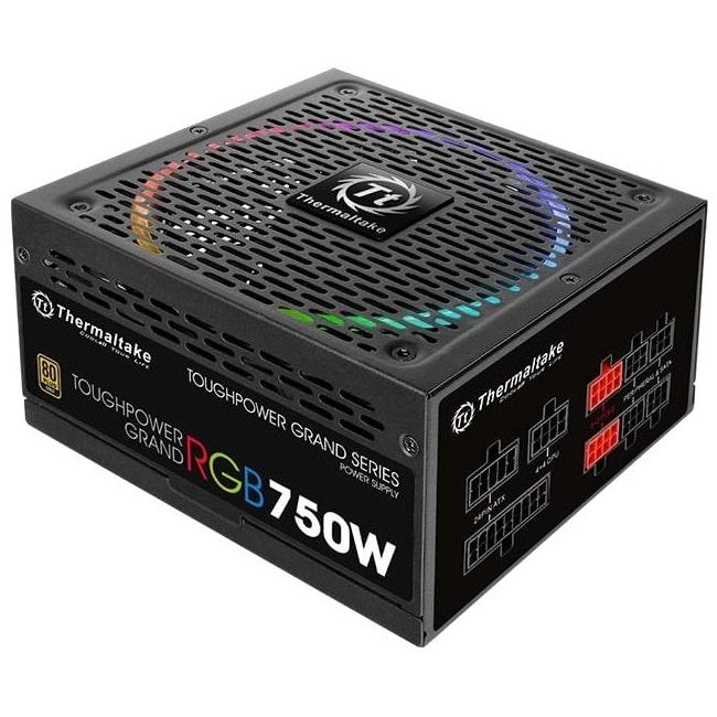 Thermaltake Toughpower Grand RGB 750w Fully Modular 80 Plus Gold Certified Power Supply - $65 After Rebate