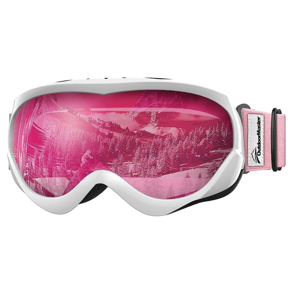 627451d5837b OutdoorMaster Kids Ski Goggles - Helmet Compatible Snow Goggles Boys   Girls  100% UV Protection  14.24