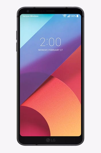 Verizon LG G6 - $14/month with 24 month Bill Credits  (50% off) $336