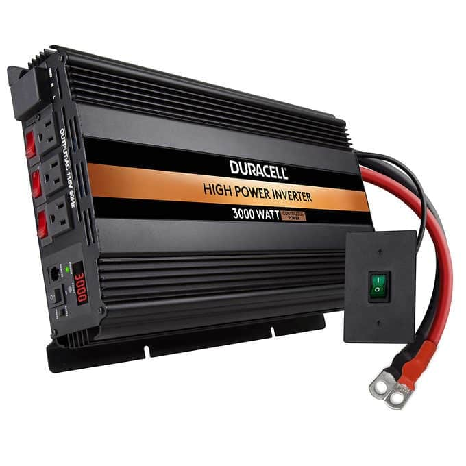 Duracell 3000 Watt High Power Inverter: $220