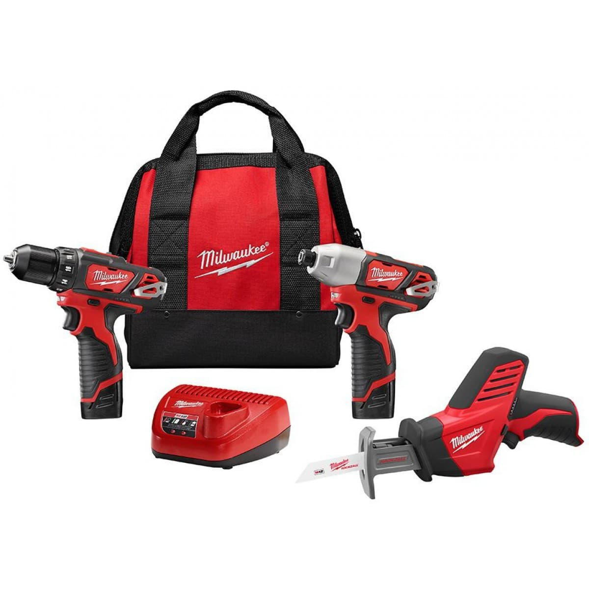 Milwaukee m12 3 tool combo kit plus bonus 4th tool $199
