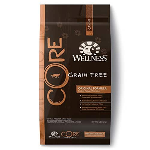 Wellness CORE Natural Grain Free Dry Dog Food 26 lb bag ~$32/bag + tax (must buy 3 or more) w/Amazon 15% S&S