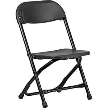 Kids Black Plastic Folding Chair $5.99 + ship @Amazon Add-on