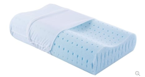 Cool Gel Contour Memory Foam Pillow for Neck Support, Standard Size $24.99 + fs