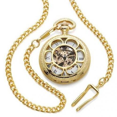 Collectible Gold Kansas City Railroad Pocket Watch $7 + ship @dailysale.com
