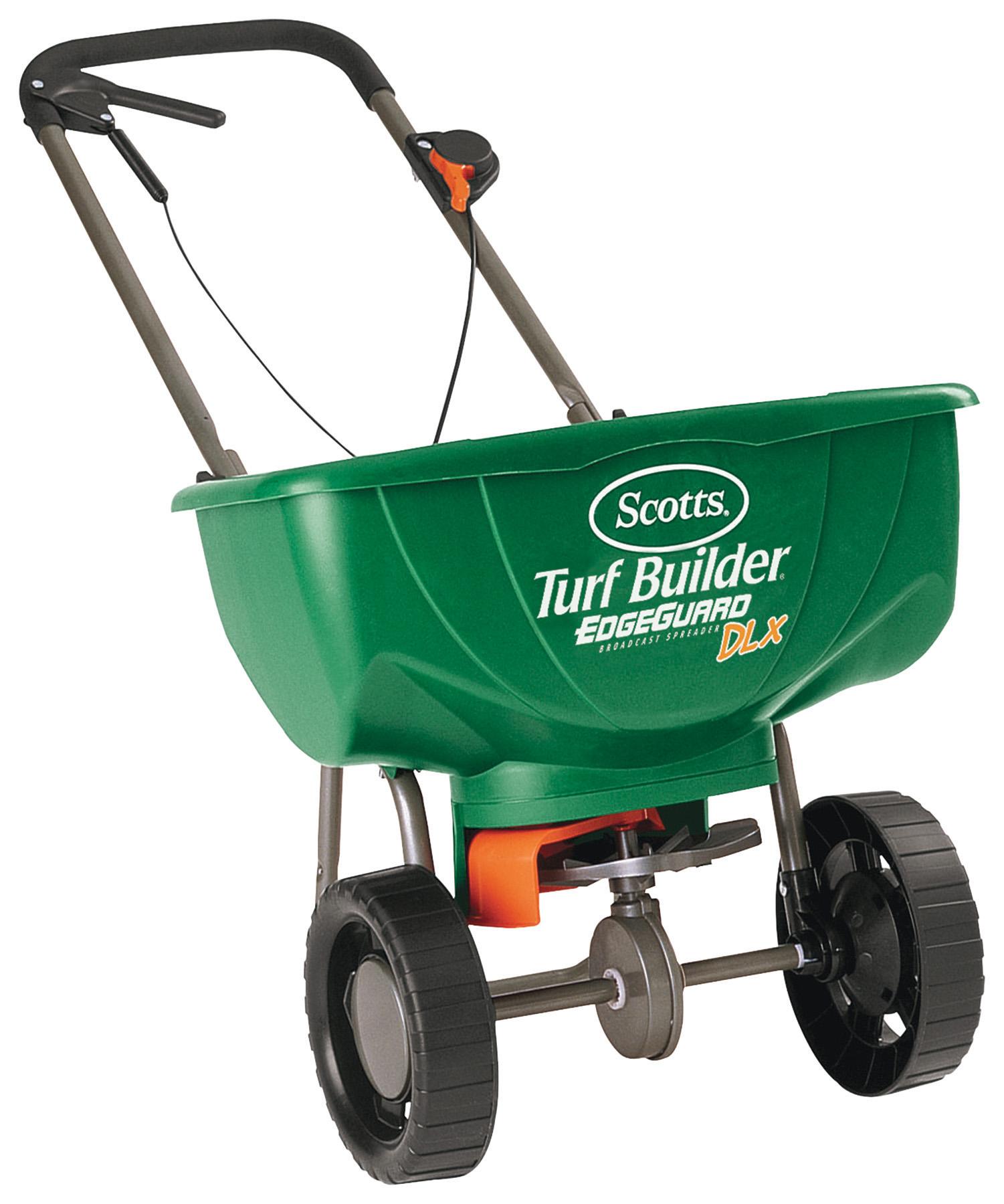 Scotts Turf Builder EdgeGuard DLX Broadcast Spreader - Walmart.com $15.00 YMMV B&M