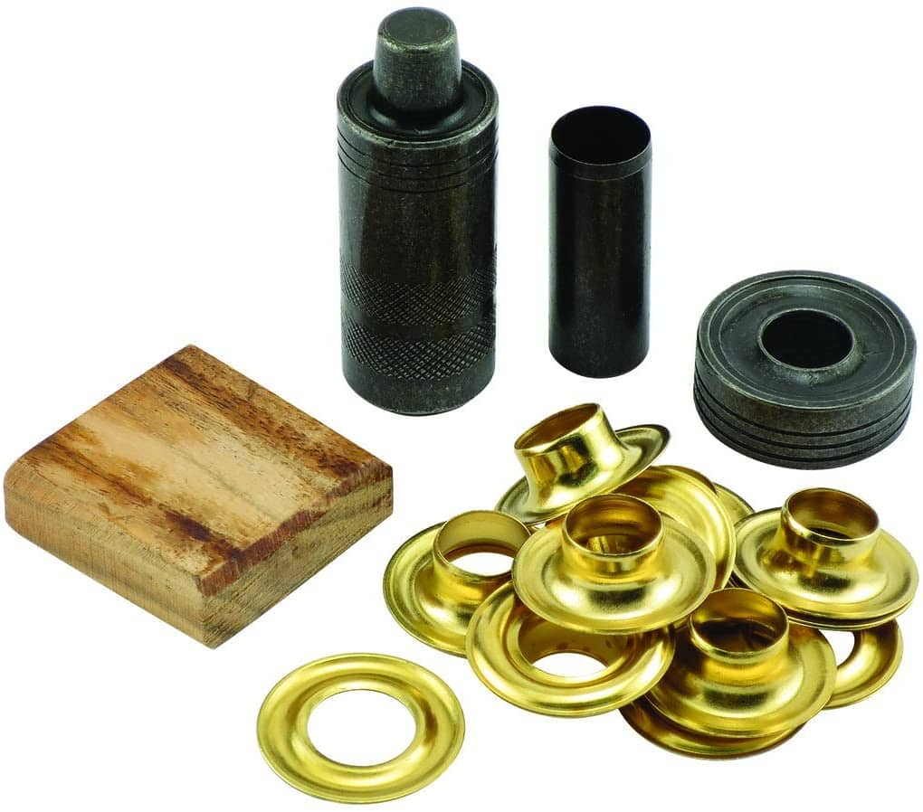 General Tools 71264 Grommet Kit with 12 Solid Brass Grommets, 1/2-Inch $7.94