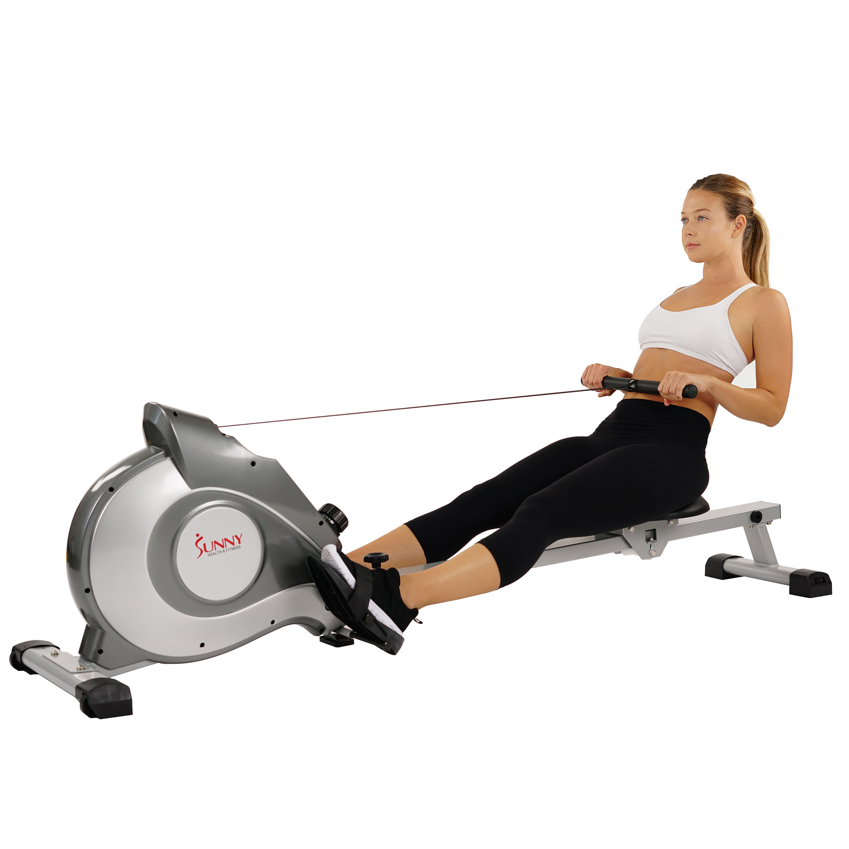 Sunny Health Fitness SF-RW5515 Magnetic Rowing Machine w LCD Monitor w/ Prime FS $207