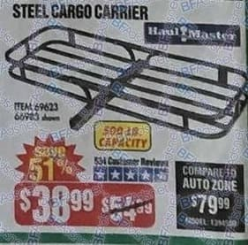 Harbor Freight Black Friday: Haul Master Steel Cargo Carrier with 500 lb Capacity for $38.99