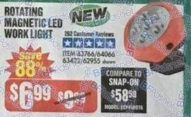 Harbor Freight Black Friday: Rotating Magnetic LED Work Light for $6.99