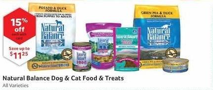 Pet Supplies Plus Black Friday: Natural Balance Dog & Cat Food & Treats  w/ Card - 15% Off