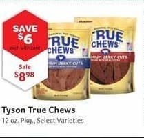 Pet Supplies Plus Black Friday: Tyson True Chews, 12 oz, Select Varieties w/ Card for $8.98