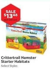 Pet Supplies Plus Black Friday: Crittertrail Hamster Starter Habitats, Select Styles w/ Card for $13.48