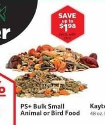 Pet Supplies Plus Black Friday: PS+ Bulk Small Animal or Bird Food w/ Card - 50% Off