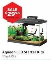 Pet Supplies Plus Black Friday: Aqueon 10 gal LED Starter Kits w/ Card for $29.98