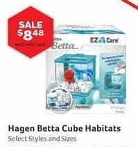 Pet Supplies Plus Black Friday: Hagen Betta Cube Habitats, Select Styles and Sizes w/ Card for $8.48