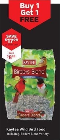 Pet Supplies Plus Black Friday: Kaytee Wild Bird Food, Birders Blend Variety, 16 lb w/ Card for $8.98