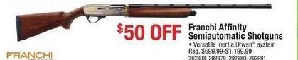 Cabelas Black Friday: Select Franchi Affinity Semiautomatic Shotguns - $50 Off