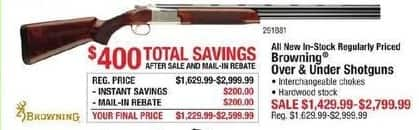 Cabelas Black Friday Entire Stock Regularly Priced Browning Over