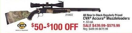 Cabelas Black Friday: Entire Stock New Regularly Priced CVA Accura .50 Cal Muzzleloaders for $439.99 - $579.99