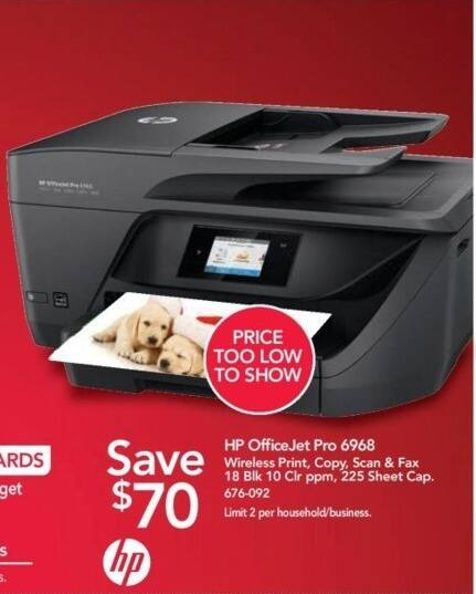Office Depot and OfficeMax Black Friday: HP OfficeJet Pro 6968 Wireless All-in-One Printer - $70 Off