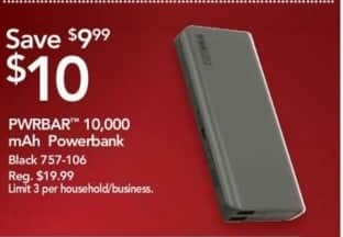Office Depot and OfficeMax Black Friday: PWRBAR 10,000 mAh Powerbank for $10.00