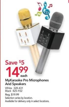 Office Depot and OfficeMax Black Friday: MyKaraoke Pro Microphones and Speakers: Black or White for $14.99