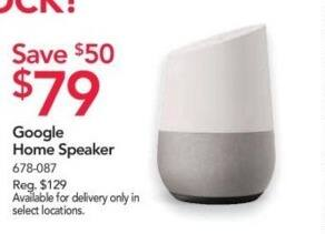 Office Depot and OfficeMax Black Friday: Google Home Speaker for $79.00