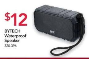 Office Depot and OfficeMax Black Friday: BYTECH Waterproof Speaker for $12.00