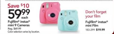 Office Depot and OfficeMax Black Friday: Fujifilm Instax Mini 9 Cameras for $59.99