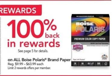 Office Depot and OfficeMax Black Friday: Entire Stock Boise Polaris Brand Paper - 100% Back in Rewards
