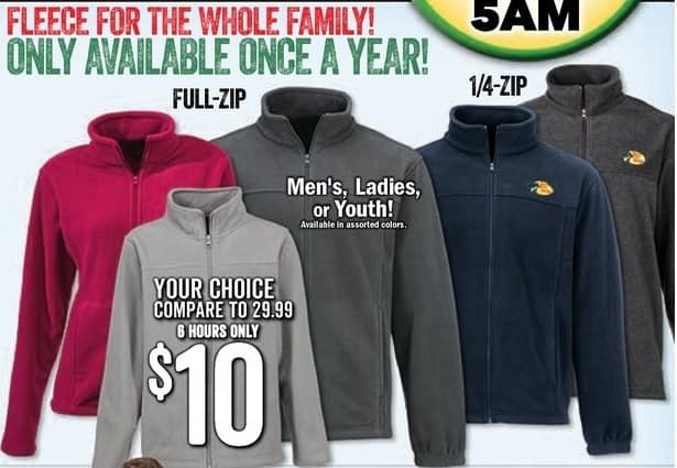 Bass Pro Shops Black Friday: Bass Pro Shops Men's, Ladies' or Youth Full-Zip or 1/4-Zip Fleece for $10.00